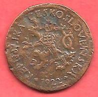 10 Haleru , TCHECOSLOVAQUIE , Bronze , 1922 , N° KM # 3 - Tschechoslowakei