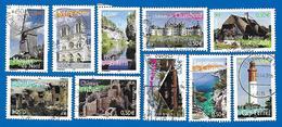 2004 - La France à Voir - Série Complète N°3702 à 3711 - Usados