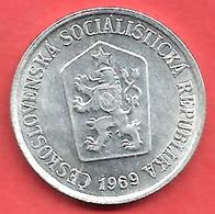 10 Haleru , TCHECOSLOVAQUIE , Aluminium , 1969 , N° KM # 49.1 , Etat: SUP - Tchécoslovaquie