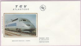 Enveloppe FDC (Non Timbrée) - T G V Atlantique (Doc. SNCF-CAV - FABBRO) (1) - Andere