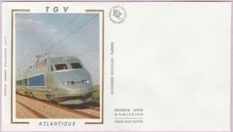 Enveloppe FDC (Non Timbrée) - T G V Atlantique (Doc. SNCF-CAV - FABBRO) (2) - Andere