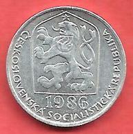 10 Haleru , TCHECOSLOVAQUIE , Aluminium , 1986 , N° KM # 80 - Tchécoslovaquie