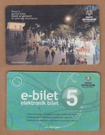 AC - BUS, TRAM MULTIPLE RIDE CARD KONYA, TURKEY - Titres De Transport