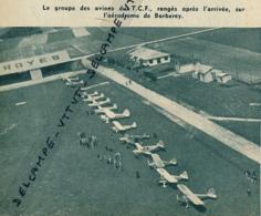 Photo (1954) : TROYES (AUBE) , AERODROME DE BARBEREY, Un Groupe D'avions Du TCF Rangés Après L'arrivée - Non Classés