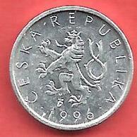 10 Haleru , République TCHEQUE , Aluminium , 1996 , N° KM # 6 - Tchéquie