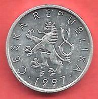 10 Haleru , République TCHEQUE , Aluminium , 1997 , N° KM # 6 - Tchéquie