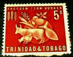 Tinidad&Tobago, 1963, Freedom From Hunger. - Tegen De Honger