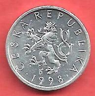 10 Haleru , République TCHEQUE , Aluminium , 1998 , N° KM # 6 - Tchéquie