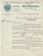 Bruxelles - Joseph Marchal, Avenue Van Volxem - Appareils Et Produits Chimiques Pour Les Sciences  1907 - Belgique