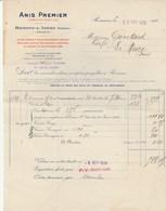 Romans Sur Isère - Anis Premier - Apéritif Distillé  1924 - Alimentaire