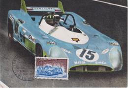 FDC FRANCE : 50 ème ANNIVERSAIRE DES 24 Heures Du MANS 1973 ( MATRA G.HILL ) - Automobile