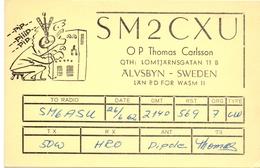 QSL Kaart Carte - Radio - SM2CXU - QTH Thomas Carlsson - Älvsbyn Sweden 1962 - Cartes QSL