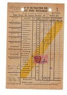 1944 Cie Gle TRACTION SUR VOIES NAVIGABLES Bras Marie Bateau NEOPO PAUWELS - Revenue Stamps