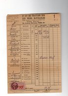 1er Mars 1945 Cie Gle TRACTION SUR VOIES NAVIGABLES Hautmont Maubeuge  Bateau NEOPO PAUWELS - Revenue Stamps