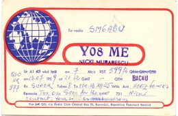 QSL Kaart Carte - Radio - YO8ME - Nicki Murarescu - QTH Bacau - Romina 1959 - Cartes QSL