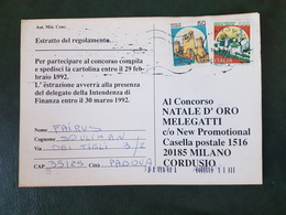 (21341) STORIA POSTALE ITALIA 1992 - 6. 1946-.. Repubblica