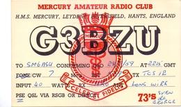 QSL Kaart Carte - Radio - G3BZU - HMS Mercury Leydene Petersfield Hants England 1959 - Cartes QSL