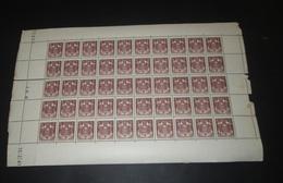 Timbre Monaco NEUF** N° 154 Armoiries  Avec Coin Daté Feuille Complète - Feuilles Complètes