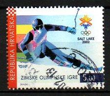 CROATIE. N°569 Oblitéré De 2002. Ski Aux J.O. De Salt Lake City. - Winter 2002: Salt Lake City