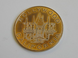 Médaille USA à Identifier - CALIFORNIA HOLLYWOOD - CALIFORNIA DOLLAR 1974   **** EN ACHAT IMMEDIAT *** - Etats-Unis
