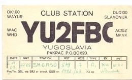 QSL Kaart Carte - Radio - YU2FBC - Club Station Slavonija - Yugoslavia 1963 - Cartes QSL