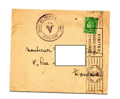 Lettre Non Ouverte Flamme Toulouse Musee Postal - Marcophilie (Lettres)