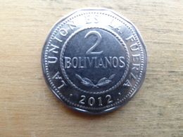 Bolivie  2  Bolivianos  2012  Km 218 - Bolivia