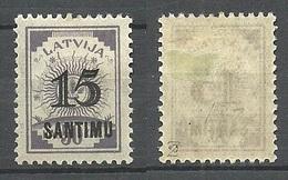 LETTLAND Latvia 1927 Michel 115 * Signed Zumstein - Letland