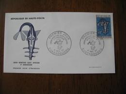 FDC Lettre Haute Volta 1967  Union Monétaire Ouest Africaine   Ouagadougou - Obervolta (1958-1984)