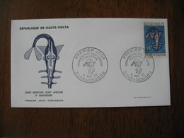 FDC Lettre Haute Volta 1967  Union Monétaire Ouest Africaine   Ouagadougou - Alto Volta (1958-1984)