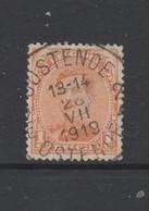 COB 135 Oblitération Centrale OOSTENDE 2 Dispersion D'un Ensemble Albert I Oblitérations Concours - 1915-1920 Albert I.