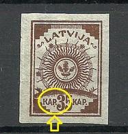 LETTLAND Latvia 1919 Michel 12 C + ERROR Abart MNH - Lettland
