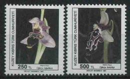 1991 Cipro Del Nord, Orchidee Fiori, Serie Completa Nuova (**) - Nuovi