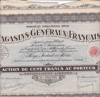 Alb 22 Titres Société Nouvelle Des Magasins Généraux Français1928N=3 - Aandelen