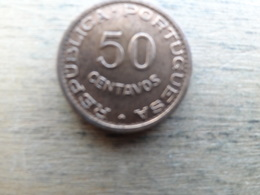 Angola  50  Centavos  1958  Km 75 - Angola