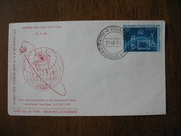 FDC Lettre Inde  1970  -  Plenary Assembly Of The International Radio Consultative Commitee     Madurai - FDC