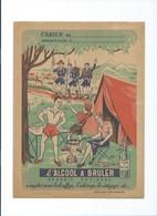 L'ALCOOL à BRULER SCOUTS SCOUT SCOUTISME Camping Carte De France TB Protège-cahier Couverture 240x 180 3 Scans - Protège-cahiers