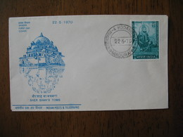 FDC Lettre Inde  1970  -  Sher Shah'S Tomb     Madurai - FDC