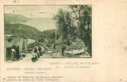 CORFOU VILLAGE DE PELEKOS CABANES DE PAYSANS - Greece
