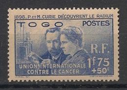 Togo - 1937 - N°Yv. 171 - Pierre & Marie Curie - Neuf * / MH VF - Ungebraucht