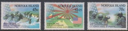 Norfolk Island ASC 522-524 1992 50th Anniversary Guadalcanal - Norfolk Island