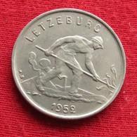 Luxembourg 1 Franc 1952 KM# 46.2  Luxemburgo Luxemburg - Luxembourg