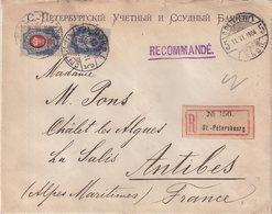 """RUSSIE : REC . A 30Kps . DE """" ST PETERBOURG """" . POUR LA FRANCE . 1904 . - 1857-1916 Imperium"""