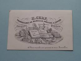 H. CERF Fournitures Vieux Marché Au Pommes De Terre 10 - BRUXELLES ( Porcelein / Porcelaine ) Formaat +/- 10 X 6 Cm - Cartes De Visite