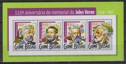 Guinee Bissau 2015 Jules Verne Ballon Balloon  MNH - Ecrivains