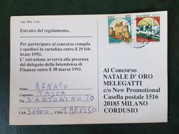 (21403) STORIA POSTALE ITALIA 1992 - 6. 1946-.. Repubblica