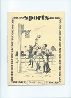 1941 BASKET-BALL Sport Didactique Au Dos Cahier 14 Feuilles = 28 Pages Complet TB Protège Cahier 220 X170 3 Scans - Protège-cahiers