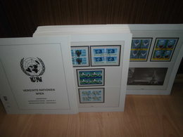 Lindner T Vordrucke UNO Wien VIERERBLOCK 1979-2006 + Sammlung Gestempelt (52083) - Wien - Internationales Zentrum