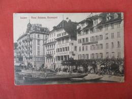 Switzerland > LU Lucerne Luzern  Hotel Balance-- Has Stamp & Cancel    Ref 3186 - LU Luzern