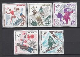 Monaco - YT N° 1218 à 1223 Manque 1218 - Neuf Sans Charnière - 1980 - Neufs